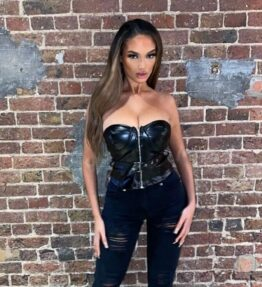 Shop Black Faux Leather Zip Front Bandeau Top and women's clothes at www.amora-shopping.com