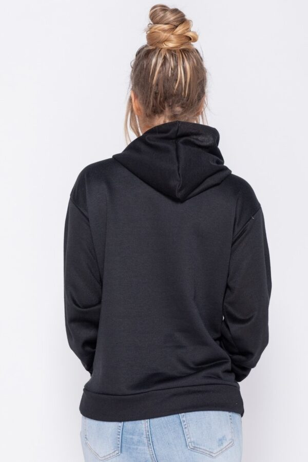 knitwear and Black Oversize Long Hooded Top at www.amora-shopping.com