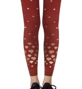 """Zohara """"Shell Out"""" Rust Footless Tights"""
