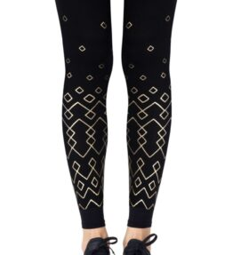 """Zohara """"Diamonds Are Forever"""" Black Footless Tights"""
