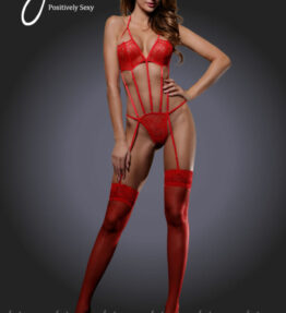 Yesx YX931 2pc Garter and Stockings Red