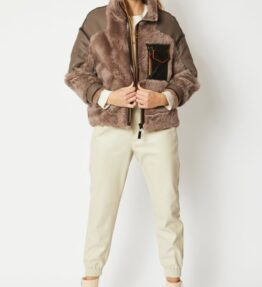 Shop Shearling Leather Charlotte Jacket and women's clothes at www.amora-shopping.com