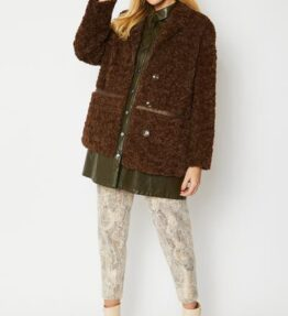 Shop Luxe Faux Shearling Jacket and women's clothes at www.amora-shopping.com