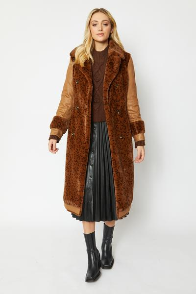 Shop Faux Fur Suede Coat and women's clothes at www.amora-shopping.com