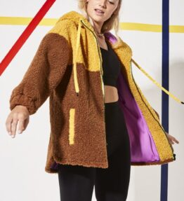 Shop Faux Shearling Hooded Jacket and women's clothes at www.amora-shopping.com