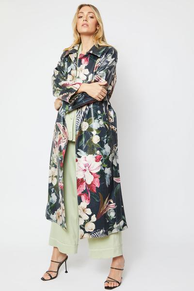 Shop Faux Suede Print Coat and women's clothes at www.amora-shopping.com