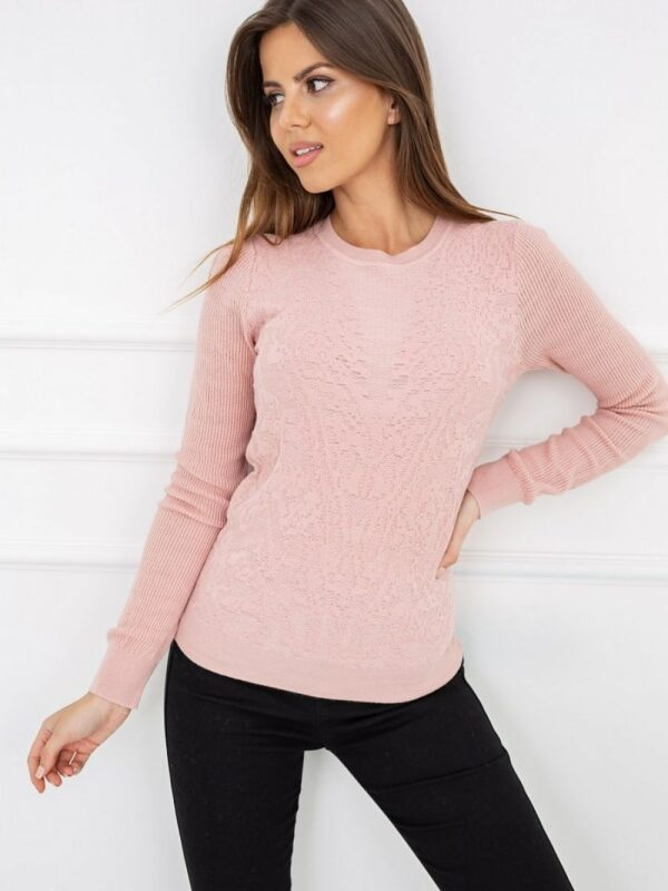 thin sweater that will also be helpful between seasons. Subtly decorated with an interesting weave