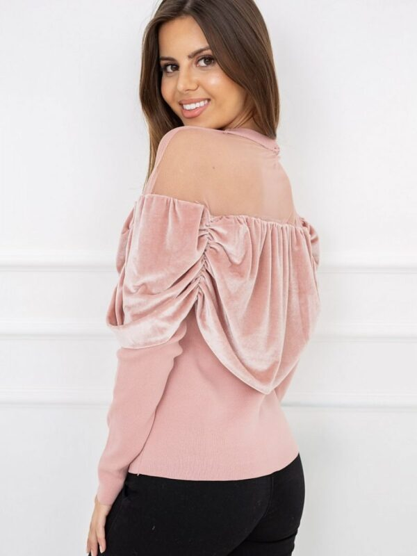 tulle trim on the neckline and shoulders. High quality