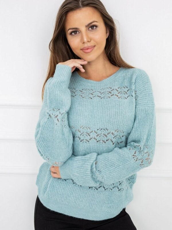 Shop Extremely pleasant to the touch sweater decorated with a light openwork pattern. It combines classic elegance with a modern