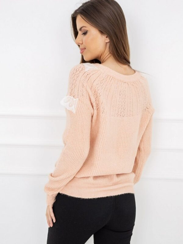 very comfortable sweater made of warm
