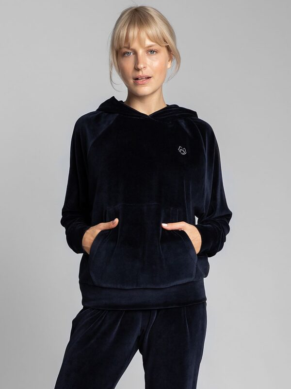 Shop Oversized velor sweatshirt with broadened bat sleeves finished with cuffs