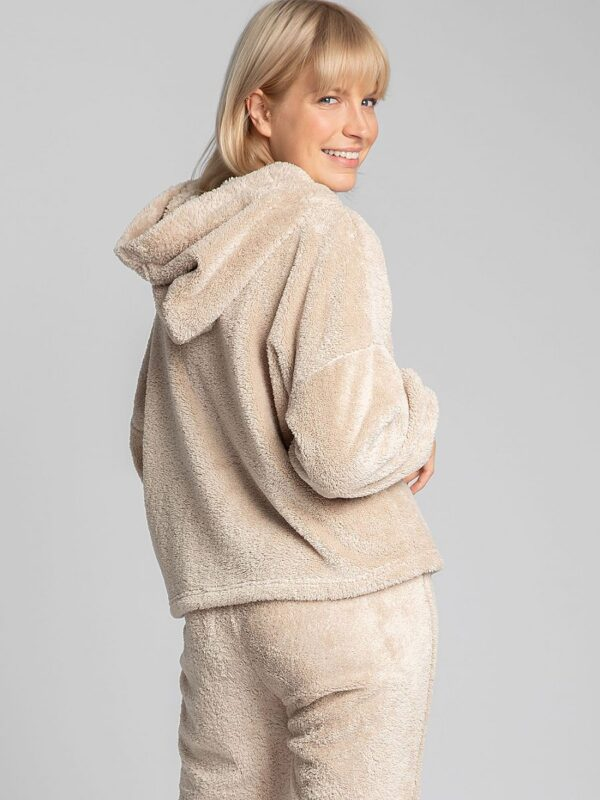 fluffy plush hoodie is an indispensable element of a home wardrobe