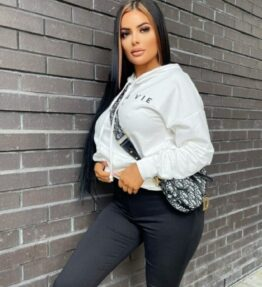Shop Off White C'est La Vie Oversized Hoodie and women's clothes at www.amora-shopping.com