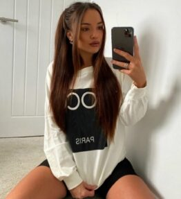 Shop Off White Coco Print Oversized Sweatshirt and women's clothes at www.amora-shopping.com