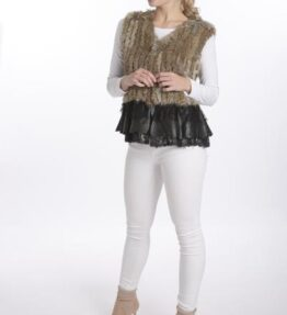 Shop Coney Fur and Leather Gilet at www.amora-shopping.com