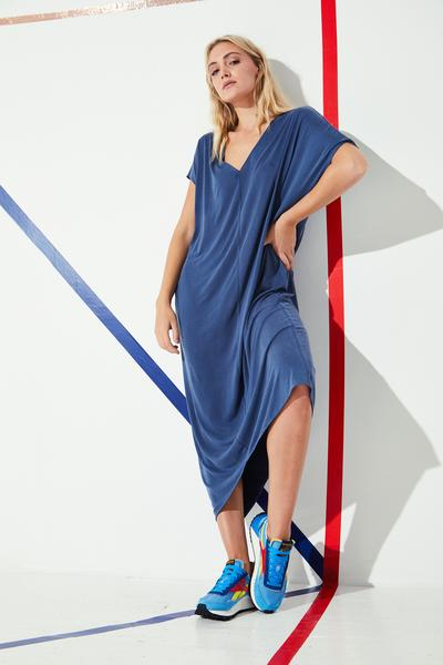Shop Silk Blend Oversized Dresses and women's clothes at www.amora-shopping.com