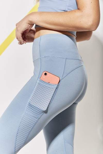 mesh dot panel detailing on each thigh with waistband detailing. Super flattering