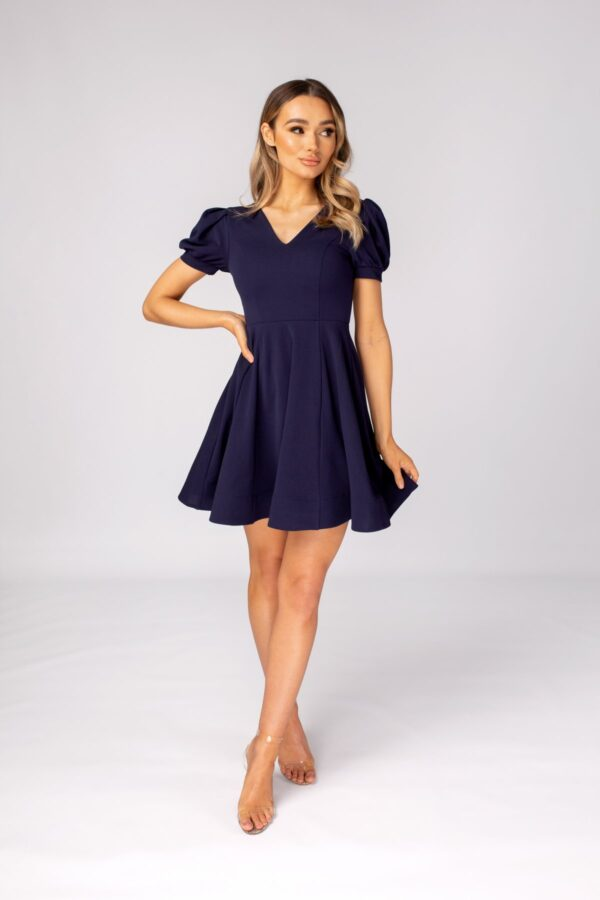 Shop Sian - Skater Dress with Puff Sleeeves at www.amora-shopping.com