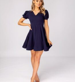 Sian - Skater Dress with Puff Sleeeves
