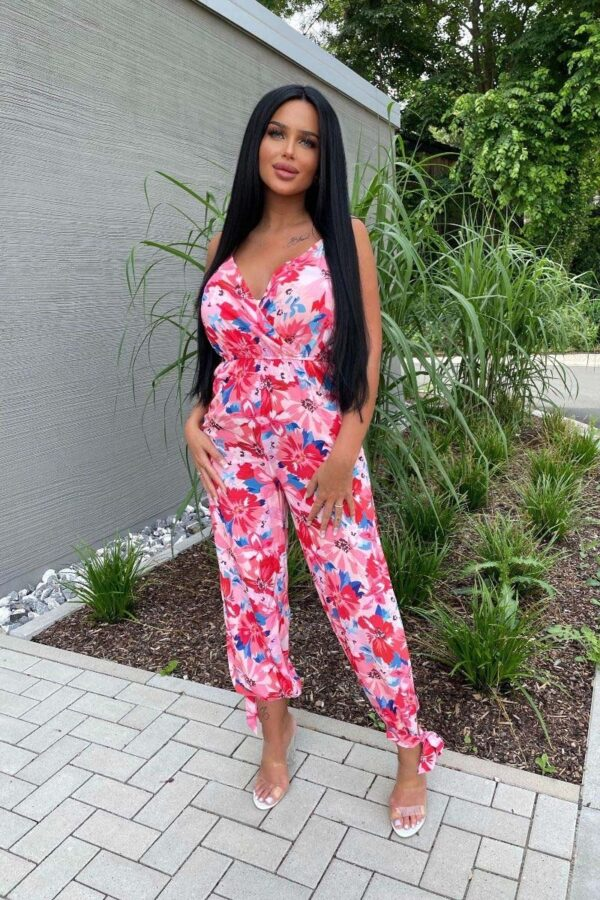 Shop Multi Floral Strappy Split Side Jumpsuits at Amora Shopping. Jumpsuits are without a doubt