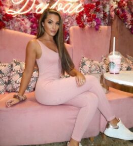 Shop Pink Rib Knit Scoop Neck Jumpsuits at Amora Shopping. Jumpsuits are without a doubt