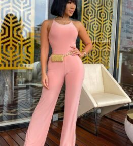 Shop Rose Slinky Cross Strap Jumpsuits at Amora Shopping. Jumpsuits are without a doubt