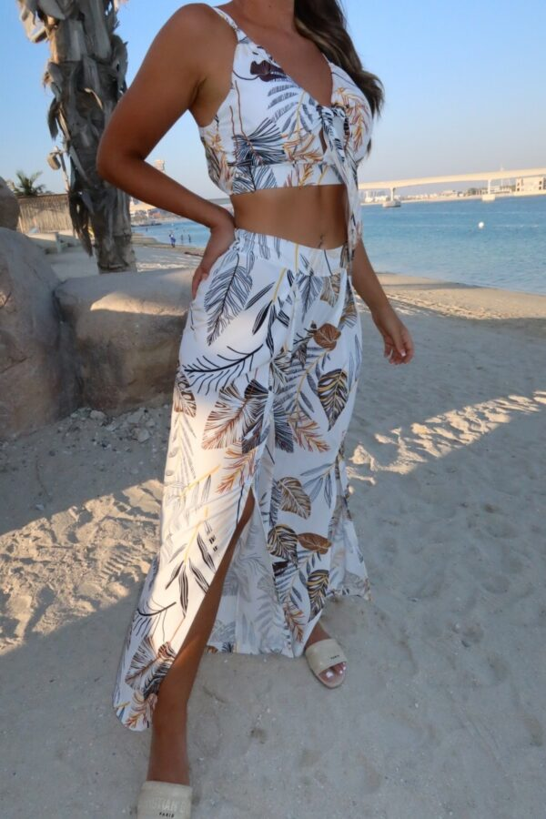 •Shop front slit palazzo trousers